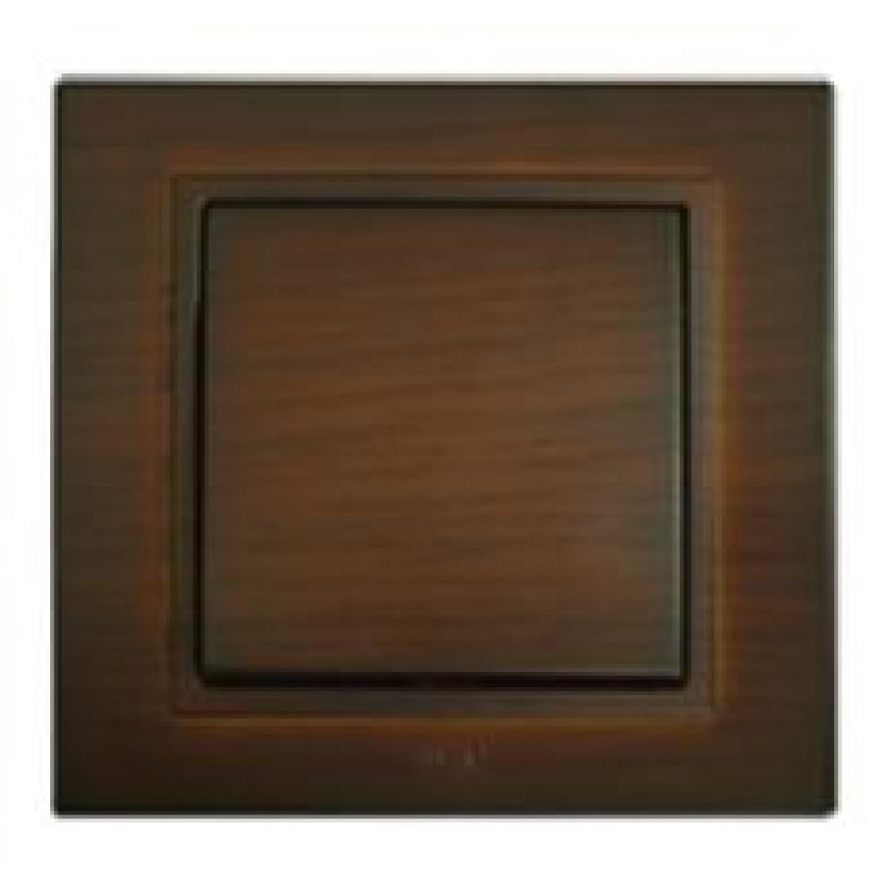 Выключатель EL-Bi Zena 1кл. темный орех в сборе (12)
