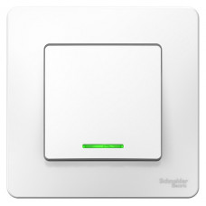 Выключатель Blanca 1-СП 6А подсветка белый (10)