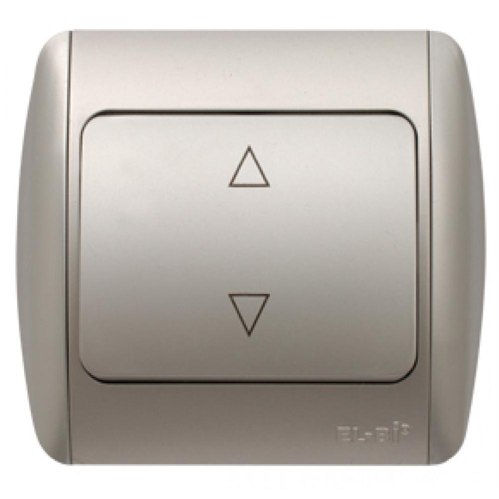 Выключатель EL-Bi ZIRVE 1кл. серебро проходной (10)