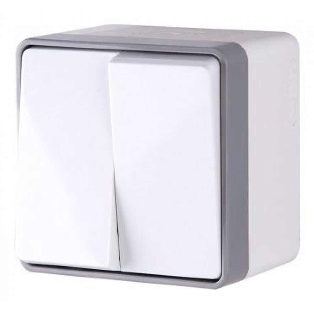Выключатель Werkel Gallant 2кл IP44 белый (10)