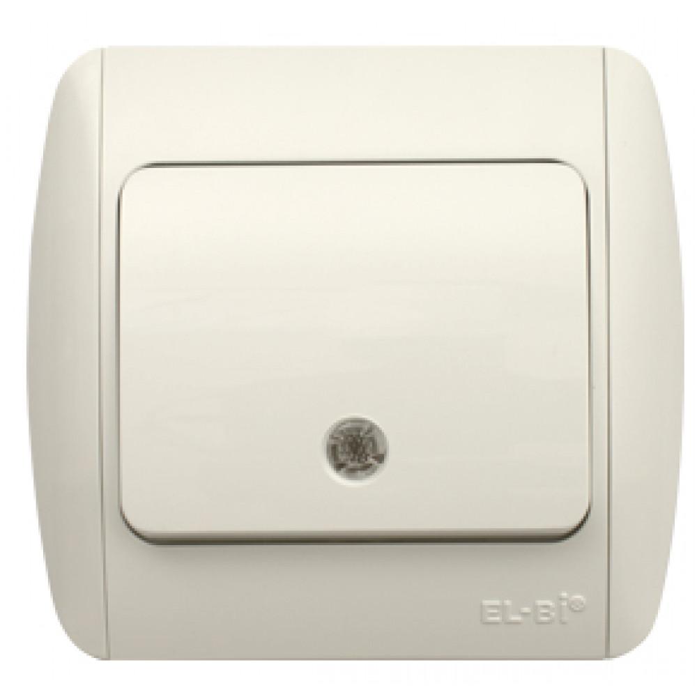 Выключатель EL-Bi ZIRVE 1кл. белый подсветка (10/60)