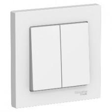 Выключатель Atlas 2кл в сборе белый (15)