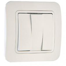 Выключатель Makel Lillium 3 кл. белый (12)