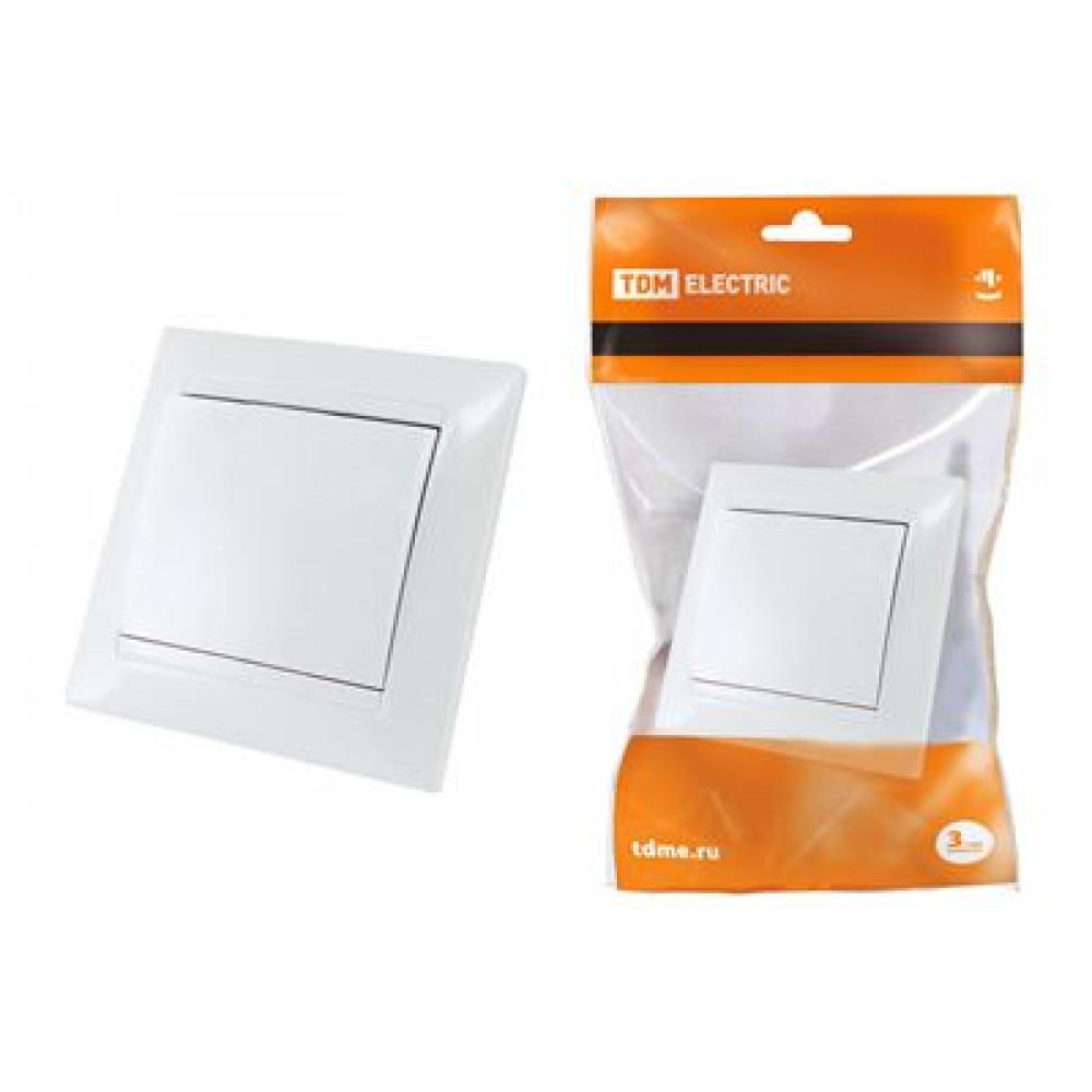 Выключатель TDM Лама 1кл. белый проходной (10/120)