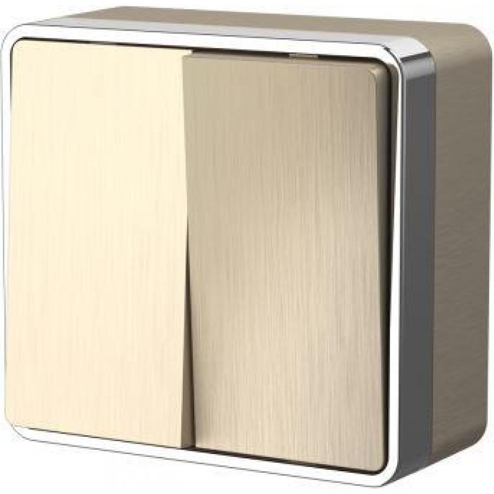 Выключатель Werkel Gallant 2кл белый (10)