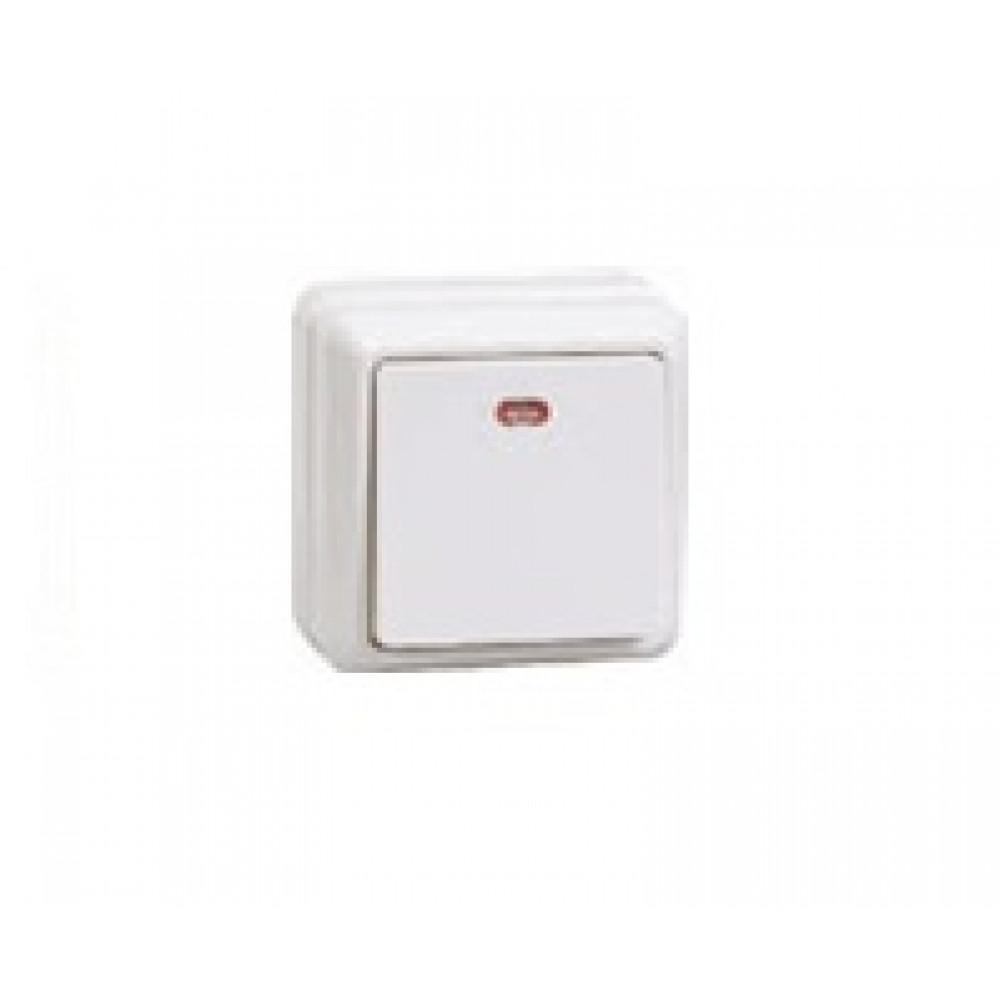 Выключатель IEK Октава 1кл. белый подсветка (36/432)