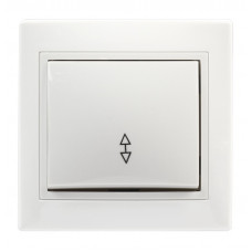 Выключатель Smartbuy Венера белый 1кл проходной (10/200)