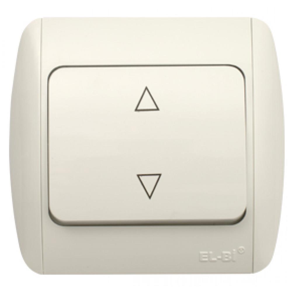 Выключатель EL-Bi ZIRVE 1кл. белый проходной (10)