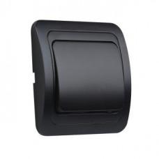 Выключатель Smartbuy Марс чёрный 1кл керамика (10/200)