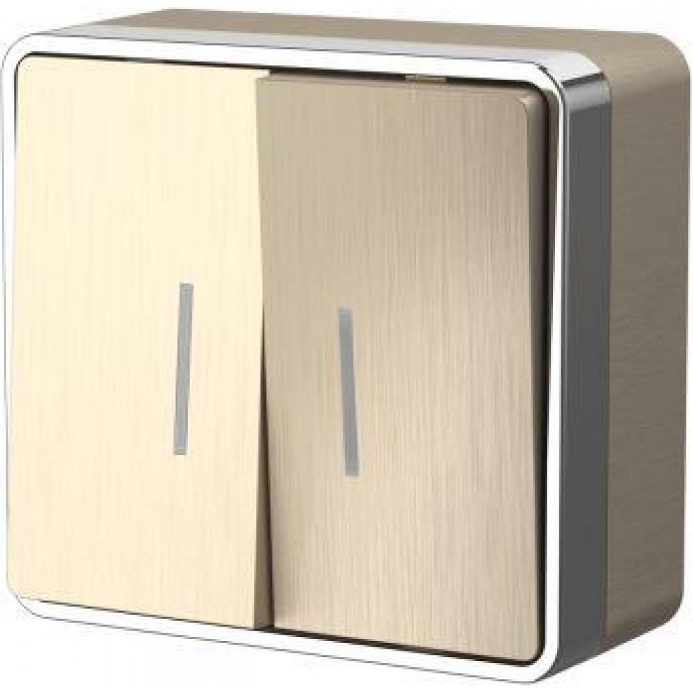 Выключатель Werkel Gallant 2кл подсветка белый (10)