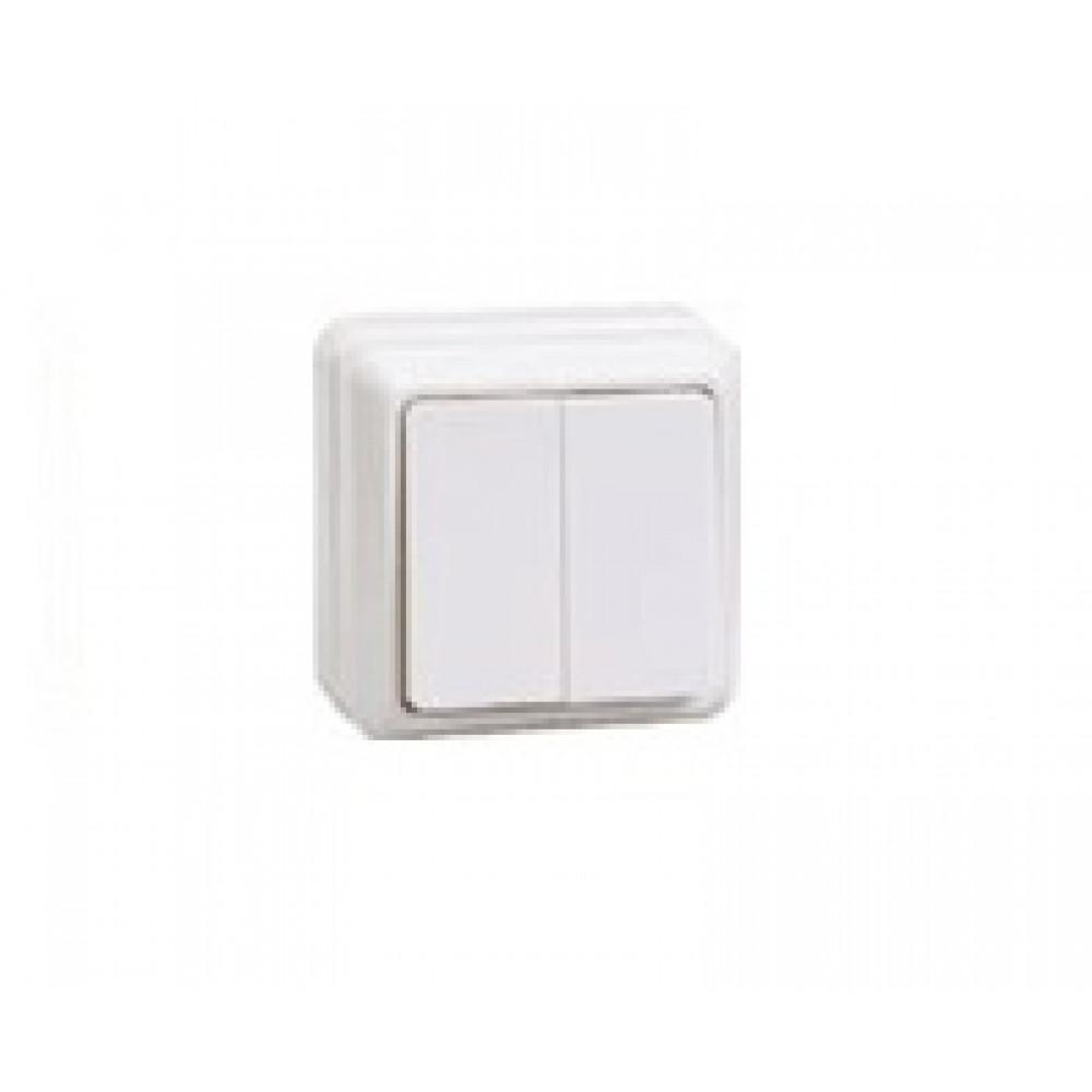 Выключатель IEK Октава 2кл. белый (36/432)