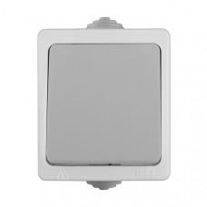 Bыключатель Аллегро 1кл. серый IP54 (10)