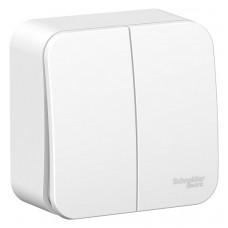 Выключатель Blanca 2-ОП 6А монтажная пластина белый (15)