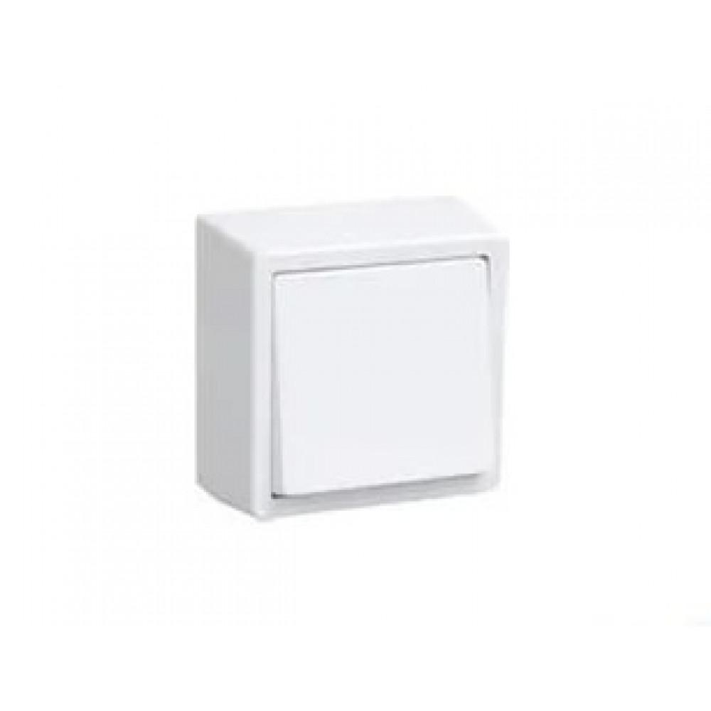 Выключатель IEK Брикс 1кл. белый (10/150)