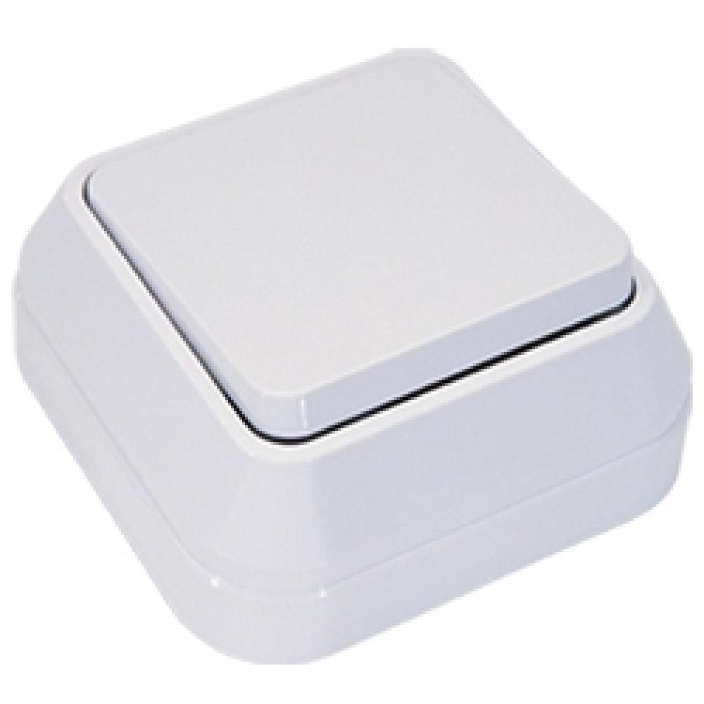 Выключатель Makel накладной 1 кл. белый проходной (10)