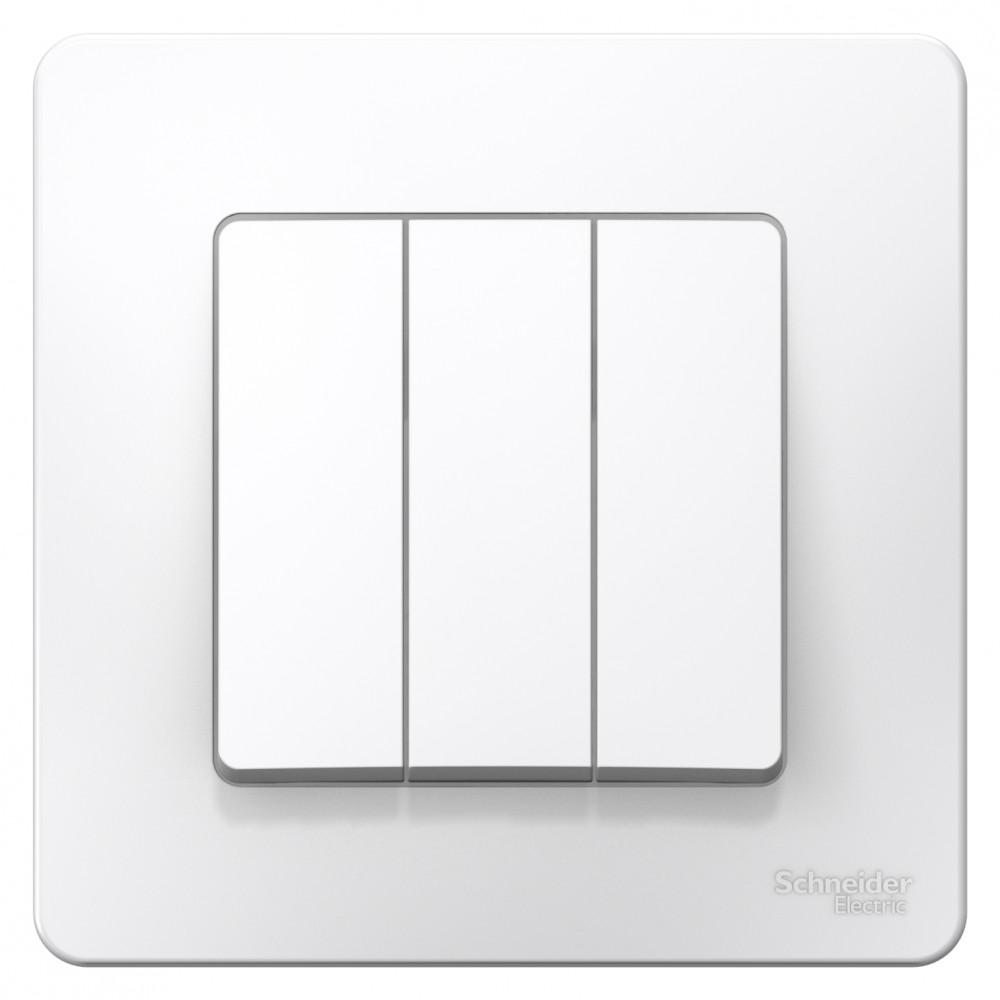 Выключатель Blanca 3-СП 10А белый (10)