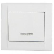 Выключатель Makel Defne 1 кл. белый подсветка (12)