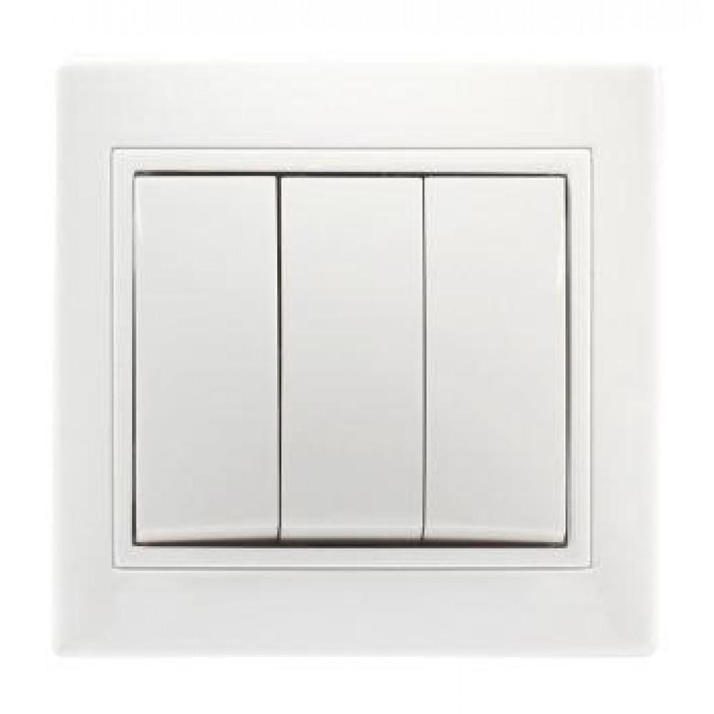 Выключатель Smartbuy Венера белый 3кл (10/200)
