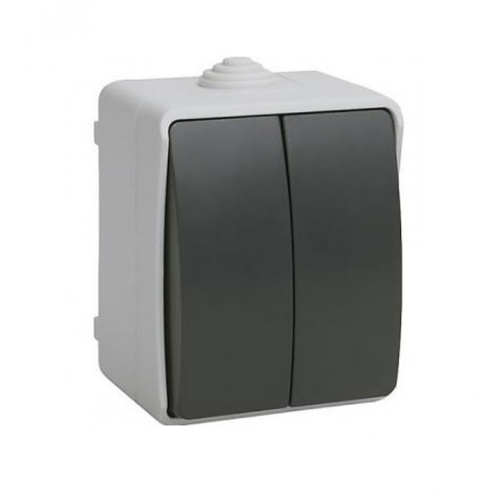 Выключатель IEK Форс 2кл. IP54 (10/100)