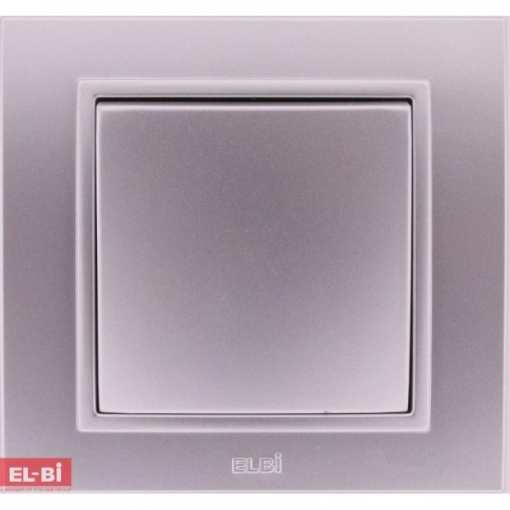 Выкл. EL-Bi Zena 1кл. серебро проход. в сборе (10)