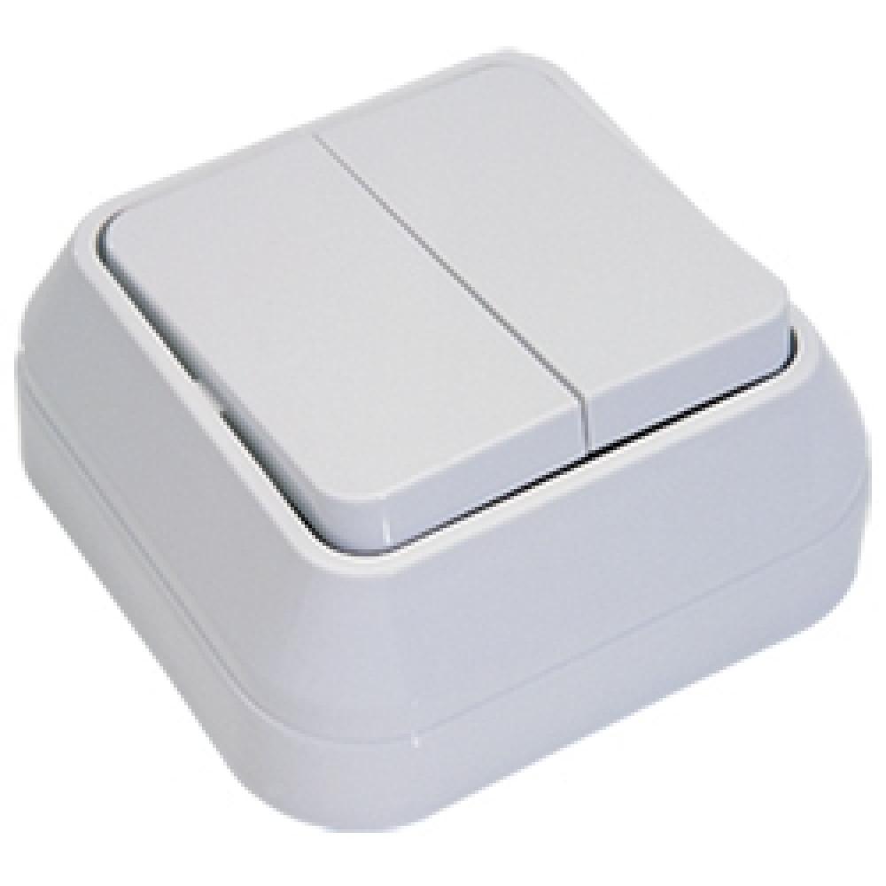 Выключатель Makel накладной 2 кл. белый (10/100)