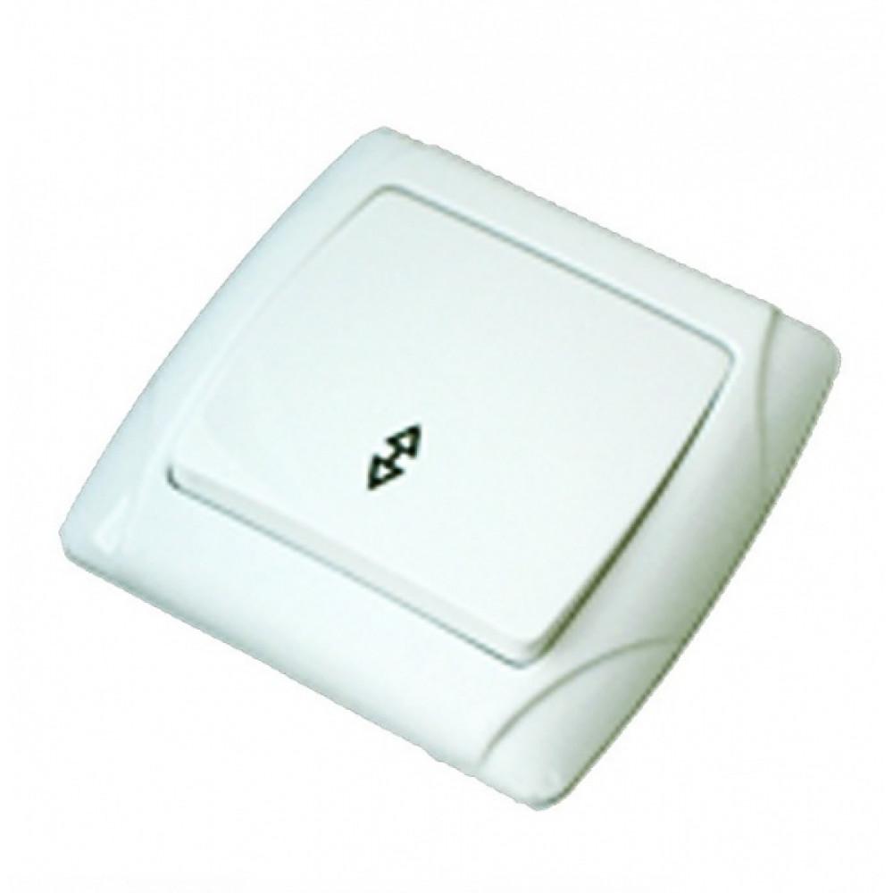 Выключатель TDM Онега 1кл. белый проходной (10/100)