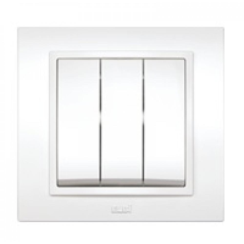 Выключатель EL-Bi Zena 3кл. белый в сборе (10)