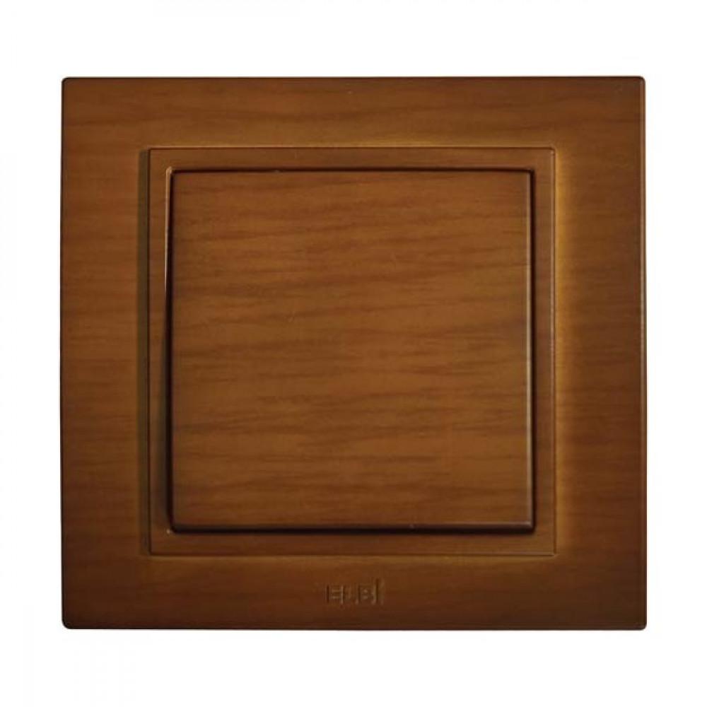 Выключатель EL-Bi Zena 1кл. вишня в сборе (10)