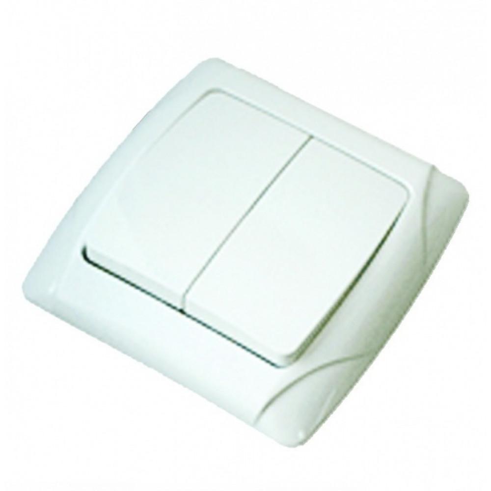 Выключатель TDM Онега 2кл. белый (10/200)