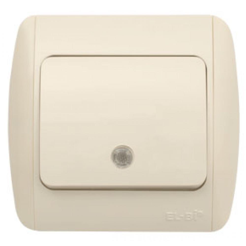 Выключатель EL-Bi ZIRVE 1кл. крем подсветка (10)