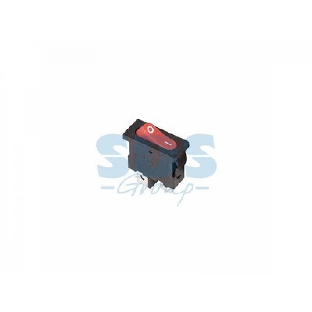Выключатель Rexant вкл-выкл 6А мини красный (10)