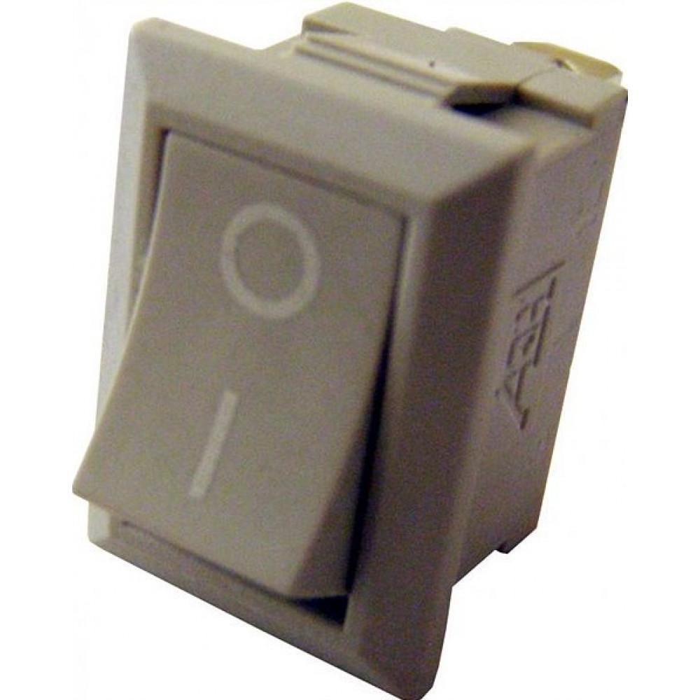 Выключатель TDM YL-211-01 1з вкл-выкл серый (10)
