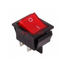 Выключатель Rexant вкл-выкл 20А подсветка красный (10)