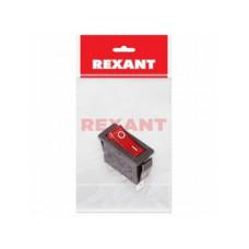 Выключатель Rexant вкл-выкл 15А подсветка красный инд упак