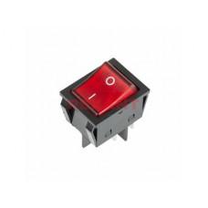 Выключатель Rexant вкл-выкл 25А подсветка красный (10)