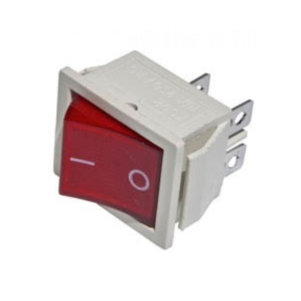 Выключатель TDM YL-211-04 1з вкл-выкл красно-белый