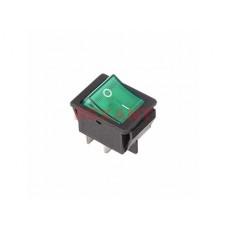 Выключатель Rexant вкл-выкл 16А подсветка зеленый (10)