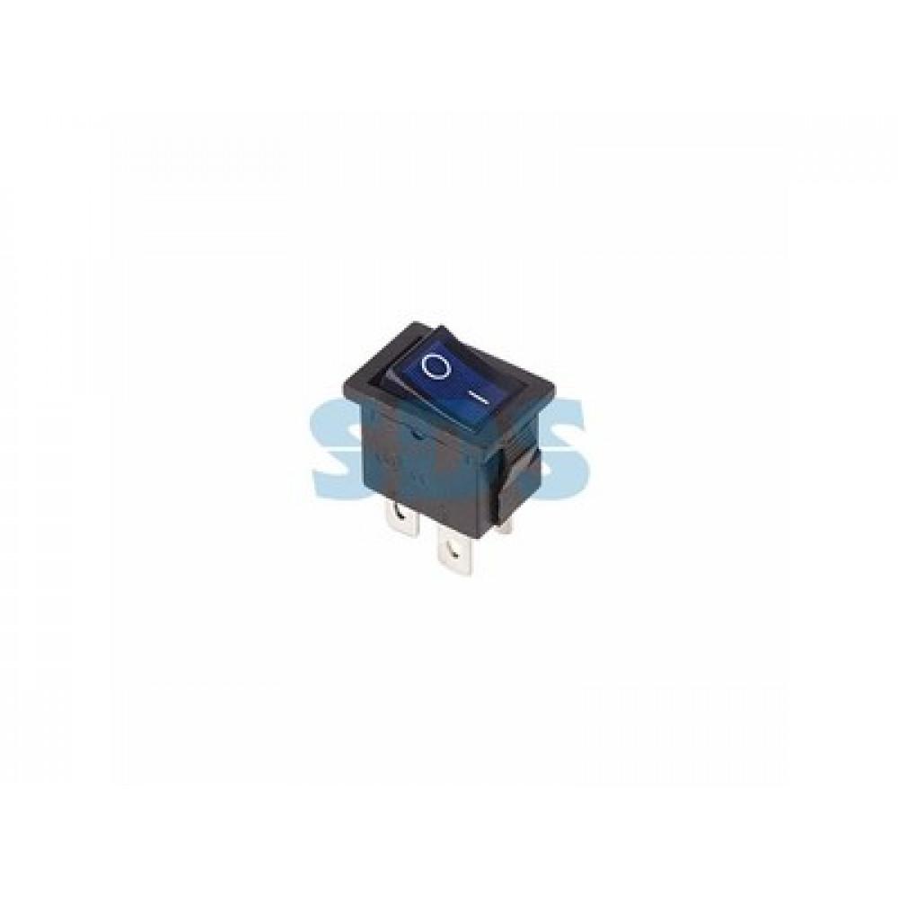 Выключатель Rexant вкл-выкл 6А мини подсветка синий (10)