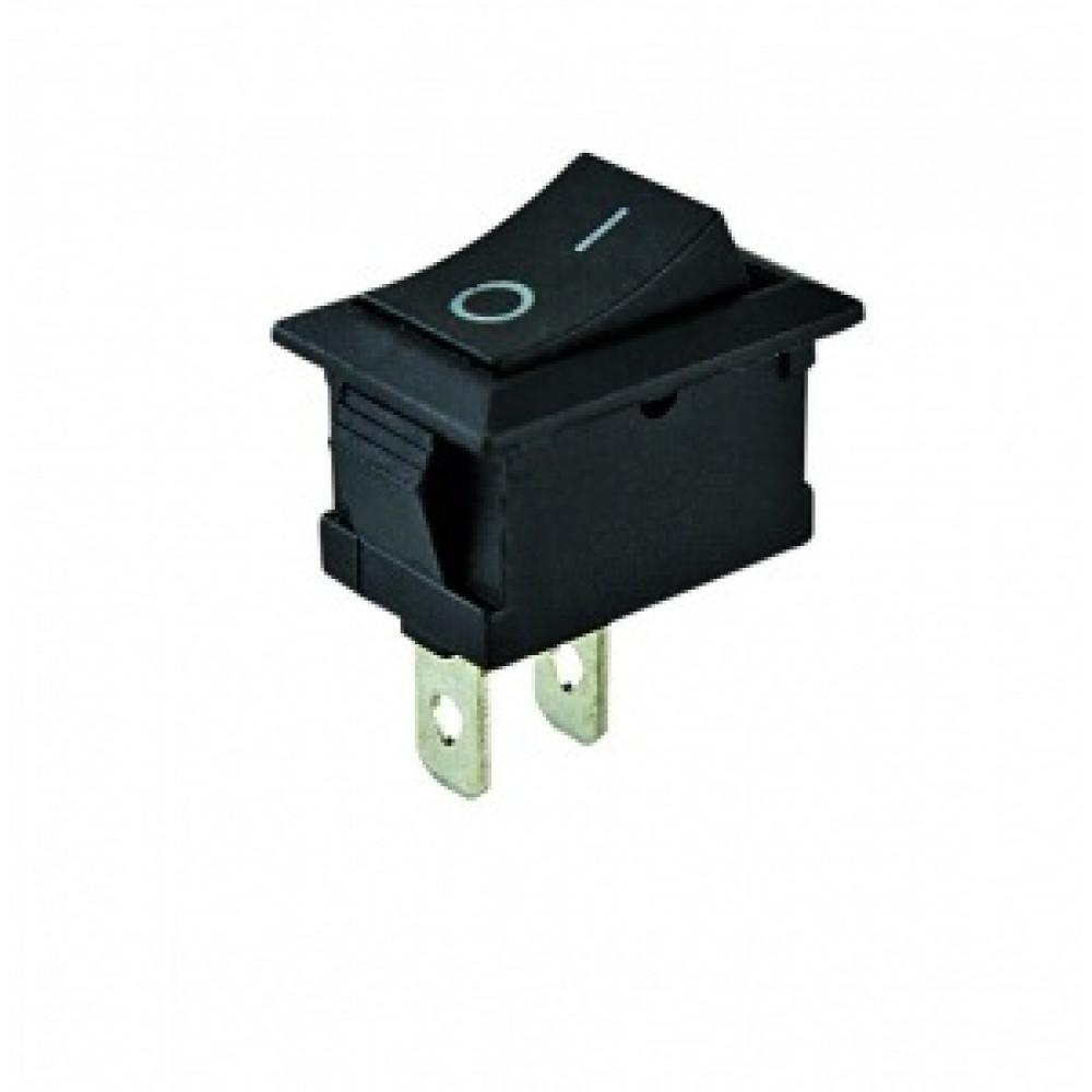 Выключатель TDM YL-211-05 1з вкл-выкл чёрный (10)