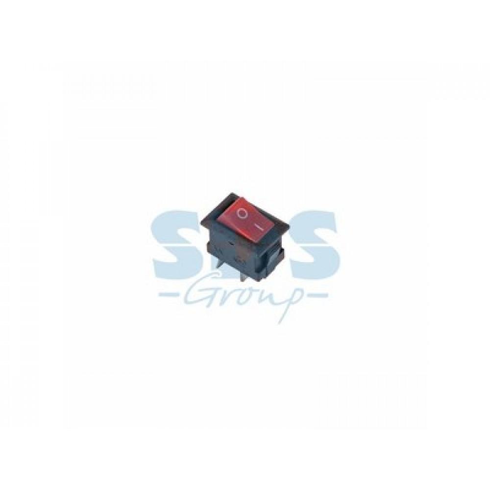 Выключатель Rexant вкл-выкл 3А микро красный (10)