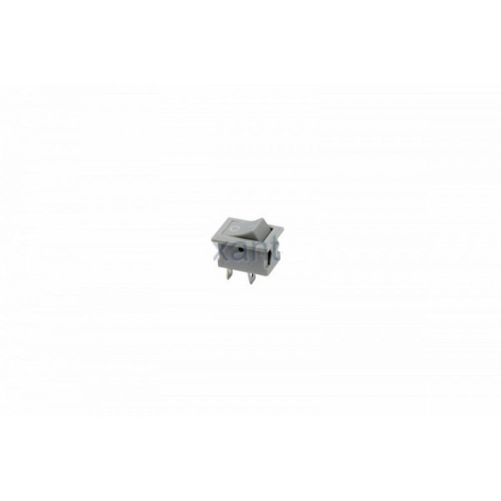 Выключатель Rexant вкл-выкл 6А мини серый (10)