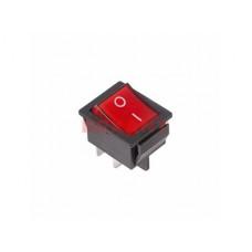 Выключатель Rexant вкл-выкл 16А подсветка красный (10)