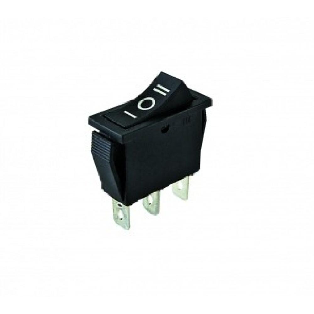 Выключатель TDM YL-202-01 1з+1з вкл-выкл-вкл чёрный (10)