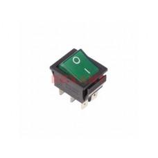 Выключатель Rexant вкл-вкл 15А зеленый (10)