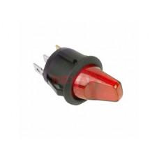 Выключатель Rexant вкл-выкл 16А подсветка красный круг 12В (10)