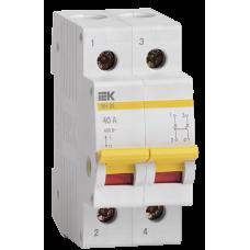 Выключатель нагрузки 2Р 40А IEK ВН-32 (6/120)