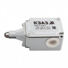 Выключатель путевой КЭАЗ ВПК-2111Б 10А 660В IP67 (10)