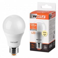 Лампа диодная A60 15Вт Е27 3000К 1500Лм Wolta (50)