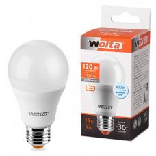 Лампа диодная A60 15Вт Е27 4000К 1500Лм Wolta (50)