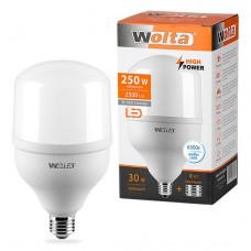 Лампа диодная HP 30Вт Е27/40 6500К 2500Лм d100x185мм Wolta (40) #